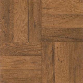 12x12 3-finger Oak Parquet Self Adhesive Vinyl Floor Tile (Pack of 20)