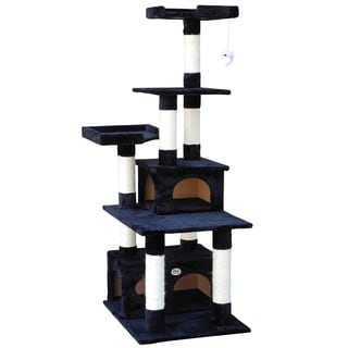 GoPetClub Cat Tree Condo Scratcher Post Pet Bed Furniture