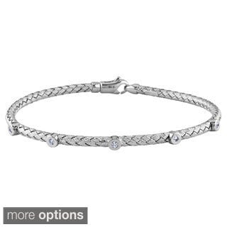 Miadora 14k Yellow or White Gold 1/10ct TDW Diamond Bangle Bracelet (G-H, VS1-VS2)