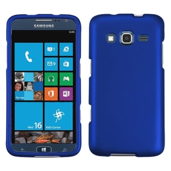 INSTEN Titanium Dark Blue Phone Case Cover for Samsung I8675 ATIV S Neo