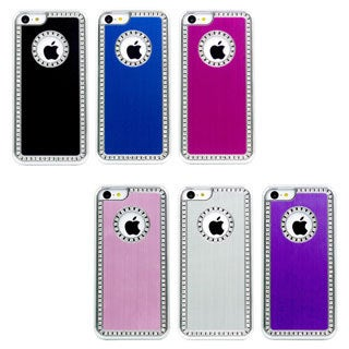 Gearonic Luxury Glitter Chrome Rhinestones Hard Case For iPhone 5C