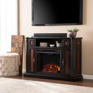 Upton Home Ellis Ebony Media Console/ Stand Electric Fireplace