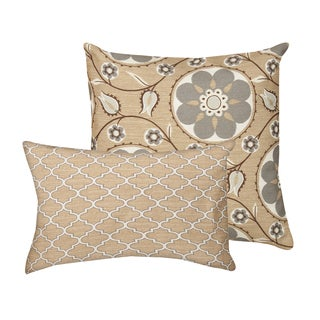 Samara/ Teresi Foggy Days Indoor/ Outdoor Decorative Throw Pillows (Set of 2)