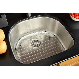 Undermount Stainless Steel 23.5-inch Single Bowl Kitchen Sink Combo