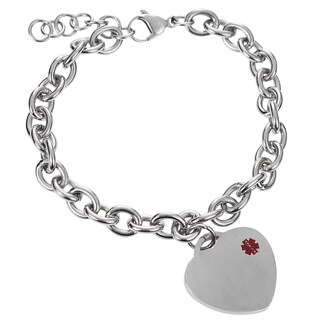 Tressa Collection Stainless Steel Medical ID Bracelet