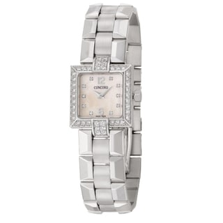 Concord Women's 'La Scala' 18k White Gold Diamond Swiss Quartz Watch