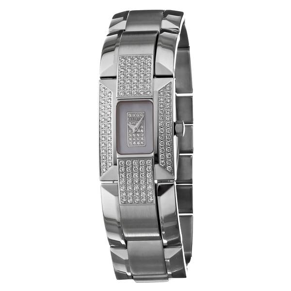 Concord Women's 'La Scala' 18k White Gold Swiss Quartz Diamond Watch with Mother of Pearl Dial