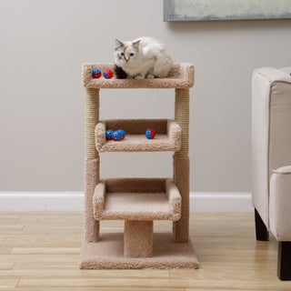 New Cat Condos Triple Cat Perch + 5 Bonus Toy Balls