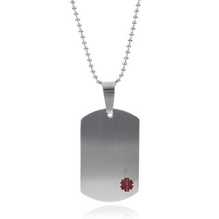 Tressa Collection Stainless Steel Medical Alert Necklace