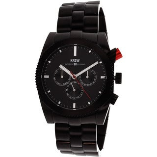 Kr3w Men's Red Rum Black Chronograph Watch