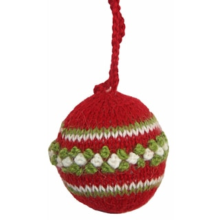 Alpaca Ornament Ball (Peru)