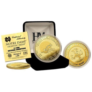 """University of Notre Dame """"11-Time National Champions"""" Gold Coin"""