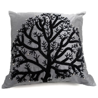 Wild Tree Grey 20-inch Down Fill Decorative Throw Pillow