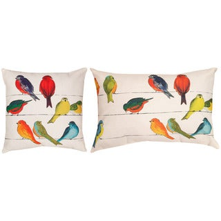 Gossip Line Indoor/ Outdoor Decorative Throw Pillows (Set of 2)