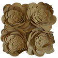 Rose Petals 20-inch Decorative Feather Fill Throw Pillow