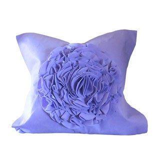 Crinkled Flower 20-inch Decorative Feather Filled Throw Pillow