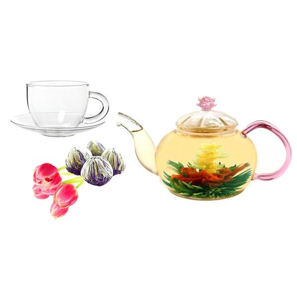 Tea Beyond Jasmine Juliet Fab Flowering Tea and Cup Set