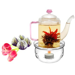 Tea Beyond Fab flowering tea Romeo set with tea warmer Cozy