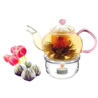Tea Beyond Fab Flowering Tea Juliet Set and Tea Wamer Cozy