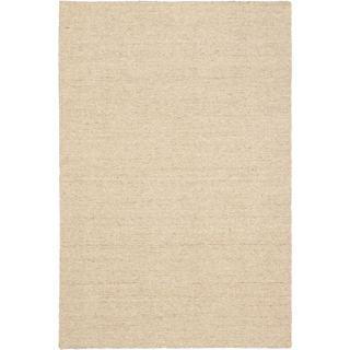 3'11x5'11 Hand Woven Natural Plush Cream Wool Rug