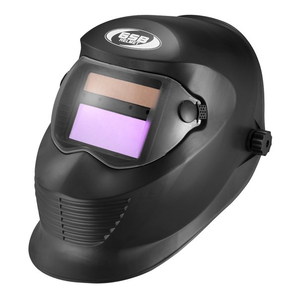 GLX Helmets Digital Auto-Darkening Solar Welding Helmet with Manual Shade Adjustment