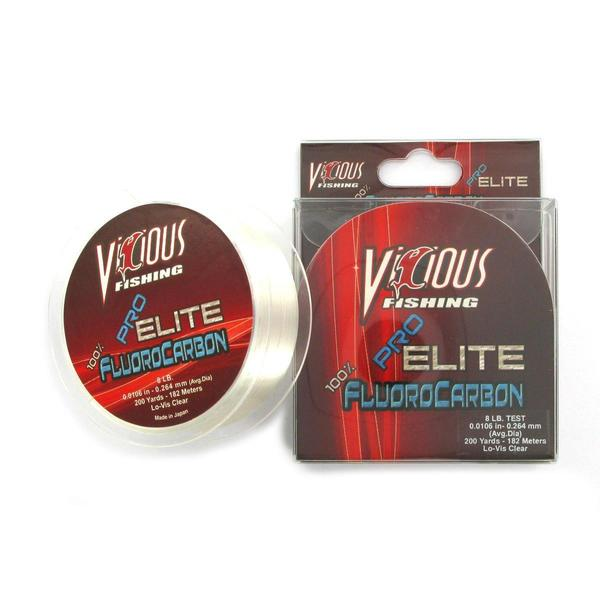 Vicious Pro Elite Fluorocarbon Fishing Line (500 yards)