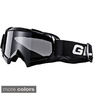 GLX Youth Black ATV Anti-Scratch Goggles