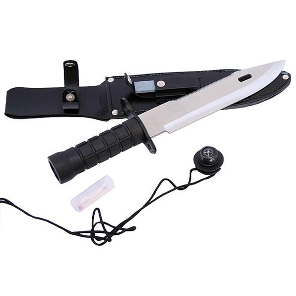 Defender 13-inch Survival Hunting Knife with Survival Kit