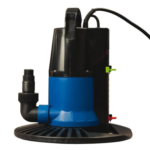 Dirt Defender Dredger 1250 GPH In Ground Winter Cover Pump with Base