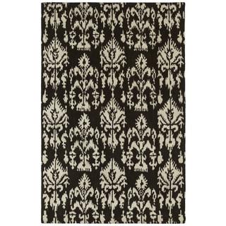 Swanky Black Ikat Wool Rug (8' x 11')