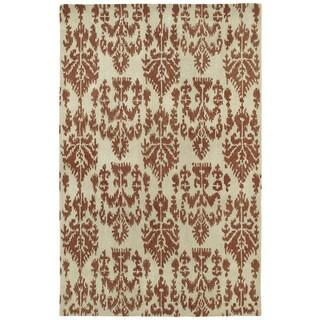 Swanky Terracotta Ikat Wool Rug (7'6 x 9')