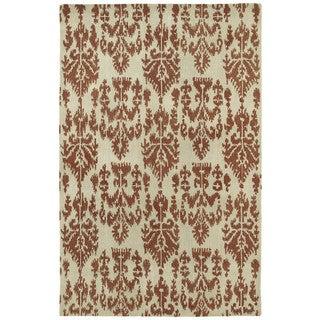 Swanky Terracotta Ikat Wool Rug (9'6 x 13')