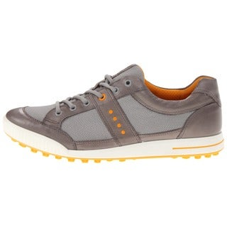 Ecco Mens Grey and White Spikeless Golf Shoes