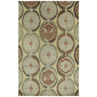 Swanky Multi Ikat Damask Wool Rug (9'6 x 13')