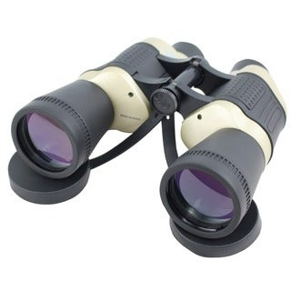 Defender Black and Tan 30x50 Free Focus Binoculars