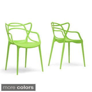 Baxton Studio Aeriss Stackable Modern Dining Chairs (Set of 2)