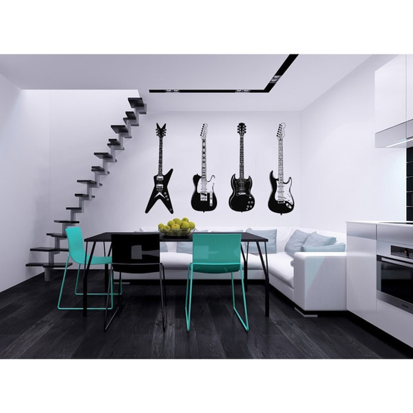 'Electric Guitars' Interior Vinyl Wall Decal