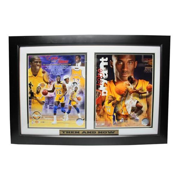 Lakers Magic Johnson and Kobe Bryant Custom Framed Plaque