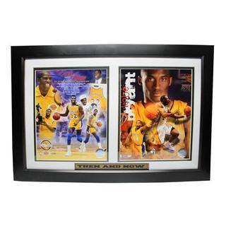 Lakers Magic Johnson and Kobe Bryant Custom Framed Plaque