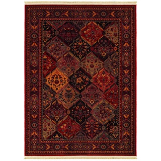 Kashimar Ardibel Panel Antique Red/ Multi Wool Rug (5'3 x 7'9)