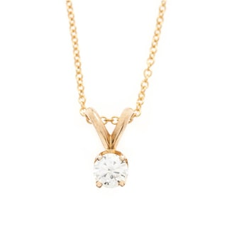 Neda Behnam DFAC 14k Gold Solitaire Diamond Necklace (I-J, VS1-VS2)
