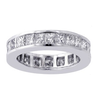 14k/ 18k Gold or Platinum 4ct TDW Diamond Eternity Wedding Band (F-G, SI1-SI2)