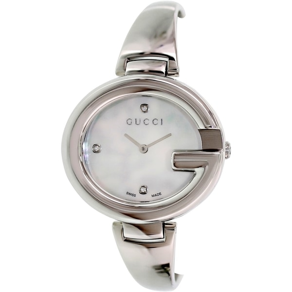 Gucci Women's 'Guccissima' Fashion Bangle Mother-of-Pearl Watch