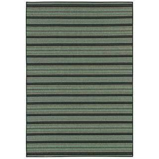 Monaco Coastal Breeze/ Brown-Blue Area Rug (7'6 x 10'9)
