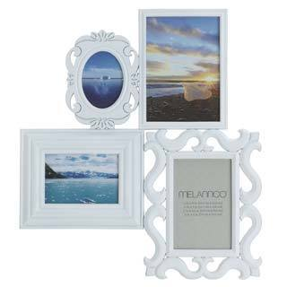 Melannco White 4-image Multi-profile Collage Frame
