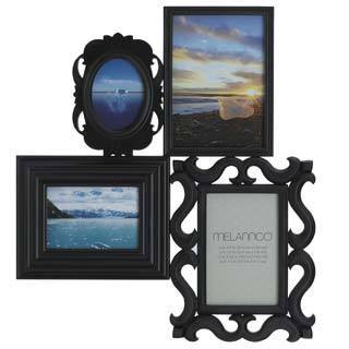 Melannco Black 4-image Multi-profile Collage Frame