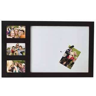 Melannco Black 3-photo and White Board Frame