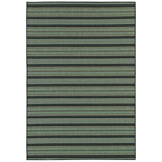 Monaco Coastal Breeze/ Brown-Blue Area Rug (8'6 x 13')
