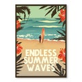 Diego Patino 'Endless Summer Wave' Framed Print