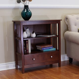 Hollydale Cherry Mission Style Bookcase